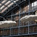 Cloud Meteoros by Lucy and Jorge Orta - art installation, St Pancras Station, London
