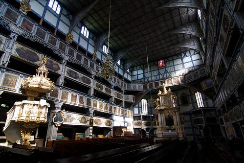 Wnętrze Kościoła Pokoju w Jaworze w kierunku wschodnim
