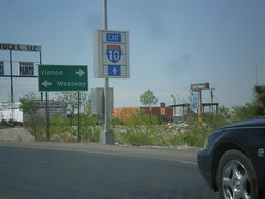 I-10 East at TX-37 Spur (sagebrushgis) Tags: sign texas intersection shield i10 vinton us180 biggreensign us85 freewayjunction tx37spur
