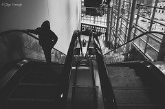 Not creepy at all (JayCass84) Tags: blackandwhite bw beautiful stairs person penguins pittsburgh pennsylvania awesome escalator creepy pens 412 consol steelcity consolenergycenter instagram instagramapp