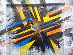 Think... (colourourcity) Tags: streetart stencils graffiti stencil awesome think honeyeater graff dope aerosol stencilart offthehook streetartmelbourne sevenmilligram burncity flickrandroidapp:filter=none colourourcity