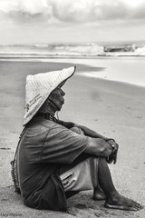 Balinese fisherman (bananacake1000) Tags: flickrtravelaward bali indonesia travel streetphotography blackandwhite candid nikon culture