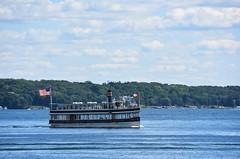Cruise boat on Lake Geneva (stevelamb007) Tags: wisconsin lakegeneva boat mailboat cruiseboat water lake stevelamb nikon d7200 nikkor18200mm nikkor