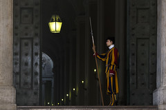 Watchman... (JH Images.co.uk) Tags: rome guard watchman watchmen architecture vatican italy portrait religion spear