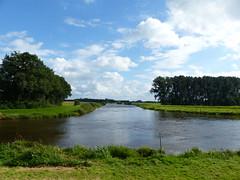 Dreyschloot, Leda river, flood tide. (Michiel Thomas) Tags: dreyschloot leda ostfriesland river flood flut vloed fluss
