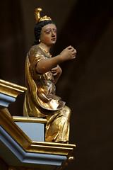 glise Sainte-Foy de Slestat (imanh) Tags: kerk interieur preekstoel houtsnijwerk beeld iman heijboer imanh elzas church interior pulpit woodcarving statue