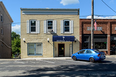 idontknow (contemplative imaging) Tags: 2016 20160806 august ciwiscdela20160806d7000 america american architectural architecture bluecar brick building buildings contemplativeimaging d7000 delavan digital dslr hot idontknow landscape midwest midwestern nikon partlycloudy photo photography ronzack rural saturday smalltown storefront street streetscape structure summer tam18200dx tamron town usa walworthcounty wi wisc wisconsin yellow facebook