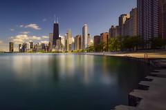 Chicago (karinavera) Tags: travel nikond5300 urban day chicago water daylight lake hancock cityscape longexposure city