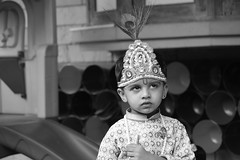 Kanya's, Gopi's Radha (todiadarsh) Tags: kamiya krishna kishan janmasthmi boy white whit black blackandwhite
