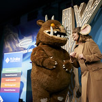 Julia Donaldson with The Gruffalo!