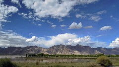 西藏拉薩河 Lhasa River, Tibet (C. Alice) Tags: 川藏318之旅 中國 china 西藏 tibet 2012 summer sky cloudy clouds lake mountain nikon p300 nikonp300 travel river asia 500v20f favorites50 aatvl01 1500v60f favorites100 aatvl02 autofocus 100commentgroup 3000views 3000v120f aatvl03 aatvl04 4000views aatvl05