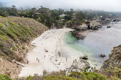 Sandy Beach at Point Lobos (Jill Clardy) Tags: point lobos pacific ocean monterey county highway 1 sea waves fog foggy state park 201608134b4a5581hdr explore explored