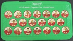 1964 Nalley's CFL Football Green Plastic Shield Holder / Wall Plaque Holder with 1964 Nalley's Calgary Stampeders Football Coins (WhiteRockPier) Tags: 1964 1963 nalleys football coins caps footballcoins footballcaps bclions britishcolumbialions edmontoneskimos calgarystampeders saskatchewanroughriders winnipegbluebombers blank back blankback cfl canadianfootballleague potatochips vintage plasticholders wallplaque plastiewallplaque greenplaque nalleysplasticcapholders envelope andymalycky nalleysfootballcoins spacemagicltd spacemagic westernconference profootballstars