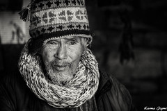 Man of faith (karmajigme) Tags: man people old human bhutan portrait blackandwhite monochrome noiretblanc travel nikon