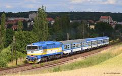 754 059-4 CD (vsoe) Tags: eisenbahn bahn personenzug diesellok taucherbrille cd ceskedrahy train passengertrain railway railroad engine czech tschechien