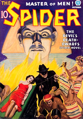 The Spider (October 1936), cover by John Howitt (Tom Simpson) Tags: thespider pulp pulpart comics vintage illustration spider bondage woman tied bound bdsm 1936 johnhowitt cover