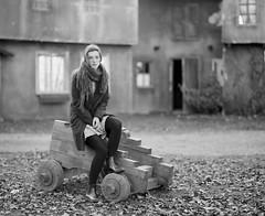 The door into summer. (vladimir_romansky) Tags: pentax 67 pentax67 film 6x7 medium format kodak tmax girl portrait push 105mm bokeh people indoor outdoor