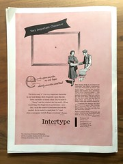 Intertype ad: Regal, Very Important Character (Stewf) Tags: theinlandprinter trademagazine 1950s ad typedesign typeanatomy type:face=regal commercialprinting