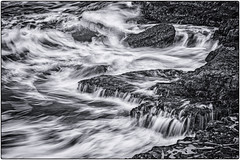 Here comes the waves (Chenxi Ni) Tags: seawaves isleofportland portlandbill pulpitrock bw blackandwhite mono monochrome sea seaside coast seaview waves motion seamotion lowlight slowshutterspeed landscape water silky nikon d800 70200mm f4 nikon70200mmf4g