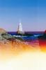 Lighthouse in Ahtopol (Iliyan Yankov) Tags: film 35mm lighthouse sea light sun burn expose sky blue yellow warm summer water fujifilm fuji superia 200 minolta himatic7s