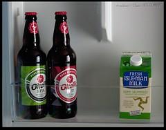 Manx Essentials (zweiblumen) Tags: okells manx beer ale milk fridge porterin purtchiarn isleofman ellanvannin canoneos50d polariser canonef50mmf18ii zweiblumen photoshopcs4