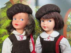 School Girls (Foxy Belle) Tags: doll school uniform brown uk patch sindy little sister vintage 1960s beret pedigree