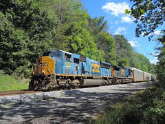 CSX 4787 and 5112 (Trains & Trails) Tags: 4787 q25312 csx train railroad engine locomotive diesel transportation emd yn3 darkfuture widecab broadford pennsylvania fayettecounty sd70mac