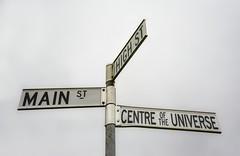Centre Of The Universe (phunnyfotos) Tags: phunnyfotos australia victoria vic centralvictoria lyonville hotel pub radiospringshotel centreoftheuniverse mainst highst highstreet mainstreet sign roadsign streetsign countrytown rural humour humor nikon d750 nikond750