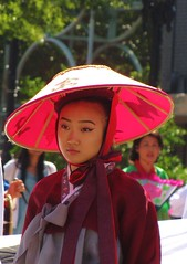 (Gerry Dincher) Tags: fayetteville cumberlandcounty northcarolina marketsquare haystreet personstreet parade internationalfolkfestival multicultural koreanbeauty koreanwoman traditionalcostume asian