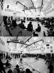 All's Fair in Love and War. (Daniel.Lam) Tags: school b boy fish eye girl canon photography eos dance high break angle dancing distorted daniel wide wideangle fisheye event breakdance breakdancing 8mm bboy lam bgirl distort kentridge daniellam 60d daniellamphotography kentridehighschool