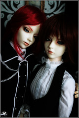 Father and Son (BathorYume) Tags: hearts doll orion bjd miho cho vamp nevan migidoll bathoryume