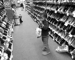 shopping children shoe store shoes child siblings frenchfries aisle photostream crocs goleta shoestore payless hueless