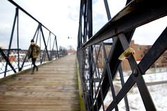 Love Padlock (cookedphotos) Tags: bridge winter toronto love canon bokeh overpass pedestrian junction padlock project365 365project 5dmarkii