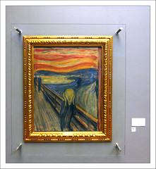 The Scream (paulmcdee) Tags: travel winter holiday snow art tourism ice weather oslo norway canon painting gallery tourist national scream edvard fjord nordic icy scandinavia munch scandanavia s100 5photosaday