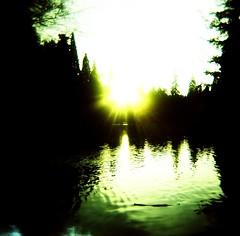 """The winter evening settles down..."" (liquidnight) Tags: park trees light sunset sunlight reflection film nature water sunshine analog mediumformat portland evening holga lomo xpro lomography crossprocessed bright kodak toycamera dream silhouettes lightleak evergreen pacificnorthwest pdx dreamy laurelhurst ripples analogue vignetting ektachrome pnw e100vs brilliant goldenhour laurelhurstpark 120n tseliot preludes thewintereveningsettlesdown"