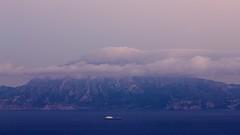 Jebel Musa, hora azul / Djebel Musa at dusk, Blue Hour (Jos Rambaud) Tags: clouds dusk nubes marruecos cloudscape rif straitofgibraltar estrechodegibraltar    jebelmusa  djebelmusa jbelmusa