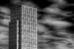 Clouds and Highrise 2 (robertdanielullmann) Tags: blackandwhite architecture highrise skyandclouds robertdanielullmann cloudsandhighrise