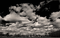 Cold Heavy Sky Over Faversham (Simon Ashmore) Tags: sky bw mono kent recreation faversham