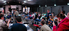 Capturing the race (radargeek) Tags: panorama cars race pack pinewood cubscouts bsa pinewoodderby