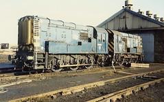 Class 08s 08888 & 08608 - Ashington (dwb transport photos) Tags: diesel railway locomotive ashington shunter britishrailways 08608 08888