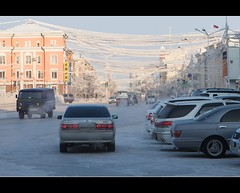 on the streets of Yakutsk (Maarten Takens) Tags: cold siberia coldweather fareast winterweather yakutsk yakutia sakharepublic yakutskcity yakutskrussia yakutsksiberia yakutskwinter yakutskphoto yakutskweather