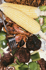 (brian james) Tags: life nyc friends summer people food film closeup feast 35mm silver pepper island photography still wings corn lol diary fork places roosevelt meal snapshots haha cz buffet adventures meatballs httpbrianjamesphotographynet httpbrianjamesphototumblrcom httpbriankipcom