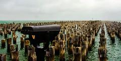 Princes Pier, Port Melbourne, with Binoculars. (Louis^) Tags: louis piers australia victoria binoculars portmelbourne portphilipbay pentaxkx oldpier princespier melbournearea