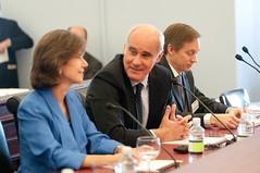 Ambassador Miriam Sapiro, Deputy USTR, and EU Ambassador to the U.S. João Vale de Almeida