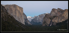 Tunnel View Blue Light 7842 (maguire33@verizon.net) Tags: dusk granite halfdome yosemitenationalpark elcapitan bridalveilfalls magichour bluelight tunnelview