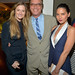 Actress Grace Gummer, writer Aaron Sorkin and actress Olivia Munn