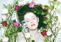 Let me go (www.lizrosephotography.com) Tags: pink red roses portrait woman colour water girl beauty hair moving colours underwater purple skin cloudy under deep thoughtful floating pale dreaming thoughts simple drowning