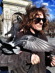 (Graceiee B) Tags: people woman ny newyork love birds kid interesting washingtonsquarepark adorable streetphotography streetshot iphone pegeons nyplaces placetovisit iphonography iphone4s gracebrignolle uploaded:by=flickrmobile flickriosapp:filter=nofilter