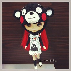 Hello Satursday, Rotte wearing dress by me and cutie Kumamon hat by DiByJumjum cc. @jum1436 #dibyjumjum #sweetbynim #blythe #blythedoll #blythedress #dolldress #doll (Sweet-by-Nim) Tags: square squareformat rise iphoneography instagramapp uploaded:by=instagram foursquare:venue=4c3857db1e06d13a208c773e