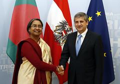 Besuch von Außenministerin Dipu Mini, Bangladesch